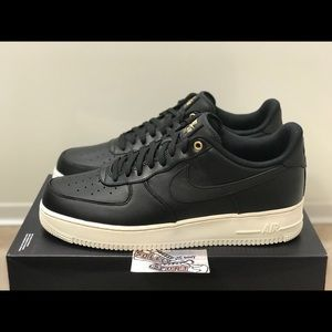 NEW Nike Air Force 1 AF1 Black Gold Leather 12